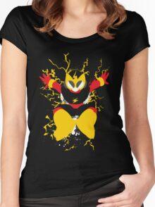 Elec Man Splattery Design Women's Fitted Scoop T-Shirt