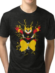 Elec Man Splattery Design Tri-blend T-Shirt