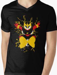 Elec Man Splattery Design Mens V-Neck T-Shirt