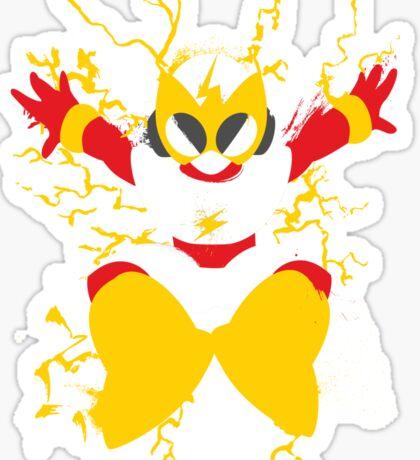 Elec Man Splattery Design Sticker
