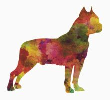 American Staffordshire Terrier in watercolor Kids Clothes