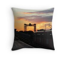 Sunset at Greenwich Rail Station Throw Pillow