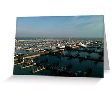 Dock on Lake Michigan Greeting Card