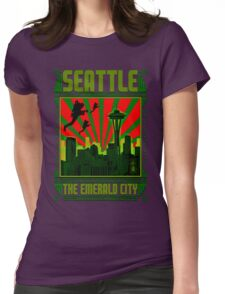 SEATTLE - THE EMERALD CITY Womens Fitted T-Shirt