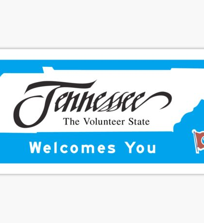 Welcome to Tennessee, Road Sign, USA Sticker