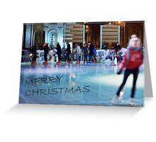 Ice Skating Christmas Greeting Card