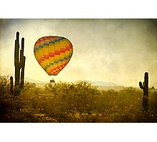 Hot Air Balloon Flight over the Southwest Desert Fine Art Print  Photographic Print