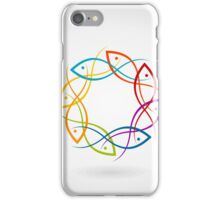 Fish a circle iPhone Case/Skin