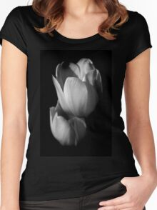 Floral Echo Women's Fitted Scoop T-Shirt