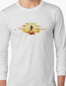Giant God Warrior - Silhouette Long Sleeve T-Shirt