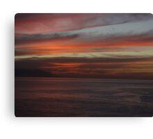 Bay of Banderas after sunset - Bahia de Banderas despues de la puesta del sol Canvas Print