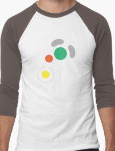 Gamecube Controller Button Symbol Men's Baseball ¾ T-Shirt