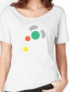 Gamecube Controller Button Symbol Women's Relaxed Fit T-Shirt