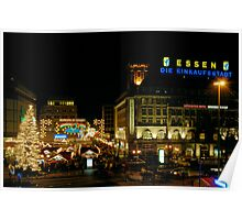 Christmas Market, Essen, Germany, 2006 Poster