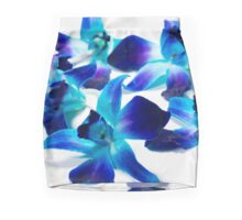 Blue Orchids - Light Mini Skirt