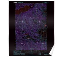 USGS Topo Map Washington State WA Bacon Peak 239890 1989 24000 Inverted Poster