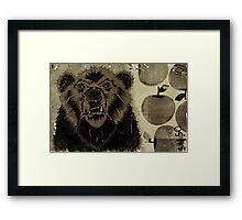 """""""BEAR FRUIT"""" Framed Print"""