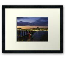 Tay Bridge heading to Dundee Framed Print