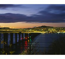 Tay Bridge heading to Dundee Photographic Print