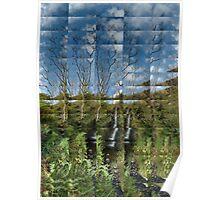 Hidden Waterfall, Argyll Poster