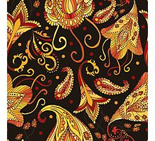 Ethnic black pattern Photographic Print