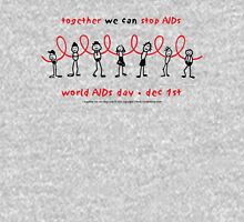 world AIDS day - together we can stop AIDS...  Long Sleeve T-Shirt