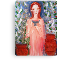 child with a cup  Canvas Print