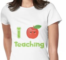 I Heart Teaching Womens Fitted T-Shirt