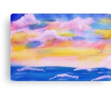 What really  makes a lovely day,,,watercolor Canvas Print