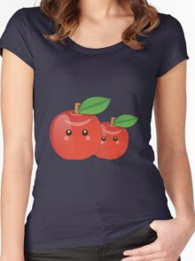 Kawaii Apples Women's Fitted Scoop T-Shirt