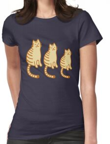 Tiger cat family Womens Fitted T-Shirt