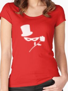 Masked Man in a Tux Women's Fitted Scoop T-Shirt