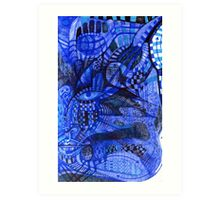 Portrait in Blue.  Art Print