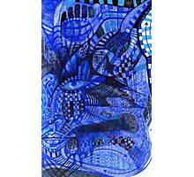 Portrait in Blue.  Photographic Print