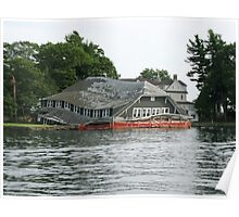 Tired Boathouse Poster