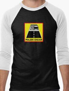 End Of Tarred Road, Traffic Sign, Iceland Men's Baseball ¾ T-Shirt