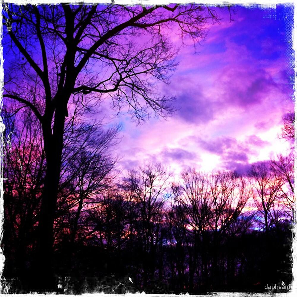 Purple Evening Sky Hipstamatic by daphsam