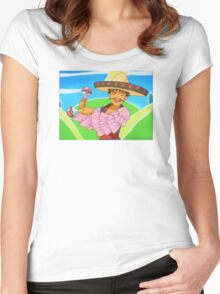 Groovy Brock Women's Fitted Scoop T-Shirt