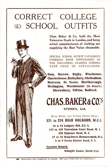 Vintage Chas Baker Clothing Ad from 1920 by ecaggiani