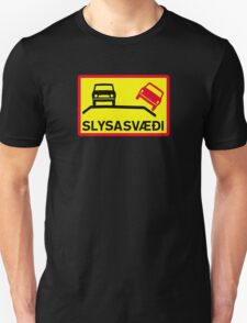 Accident Risk Area, Traffic Sign, Iceland Unisex T-Shirt