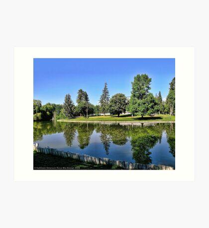Woodland Park - Kalispell, Montana (USA) Art Print