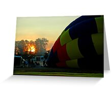 At The Crack Of Dawn Greeting Card