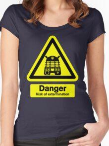 Dalek Danger! Women's Fitted Scoop T-Shirt