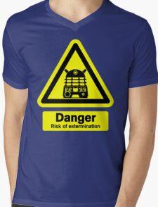 Dalek Danger! Mens V-Neck T-Shirt