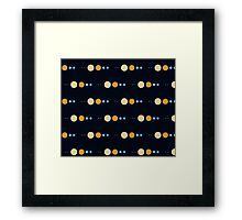 Planets to scale pattern Framed Print