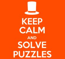 Keep Calm and Solve Puzzles Kids Tee