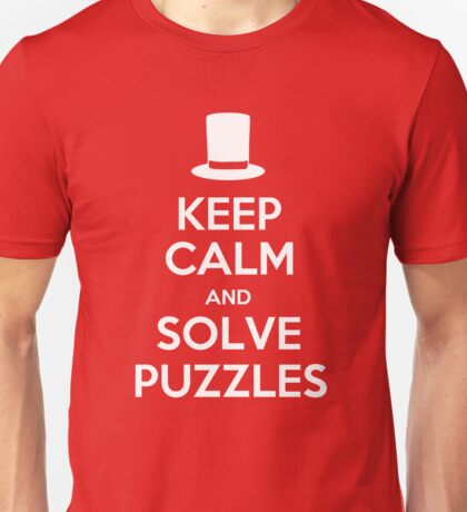 Keep Calm and Solve Puzzles Unisex T-Shirt