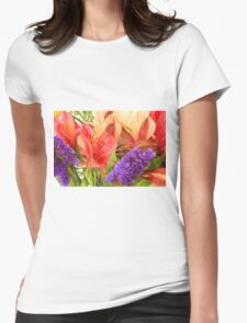 Colorful Bouquet of Flowers Womens Fitted T-Shirt