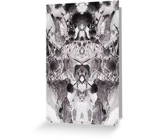 Diaphanous symmetry Greeting Card