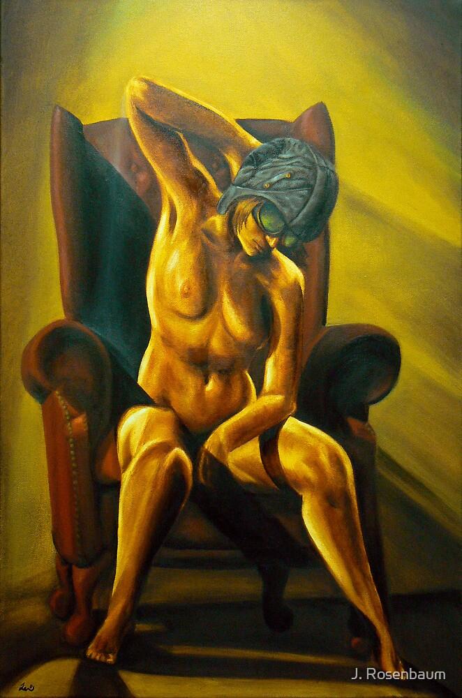 Aviatrix - Steampunk Nude art by Jennie Rosenbaum
